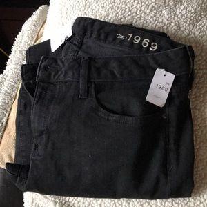 Gap curvy skinny black jeans